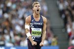 Kevin Mayer France Decathlon World Champion London 2017  Canvas