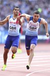 Adam Gemili to Daniel Talbot Great Britain 4x100m Relay London 2017 Prints