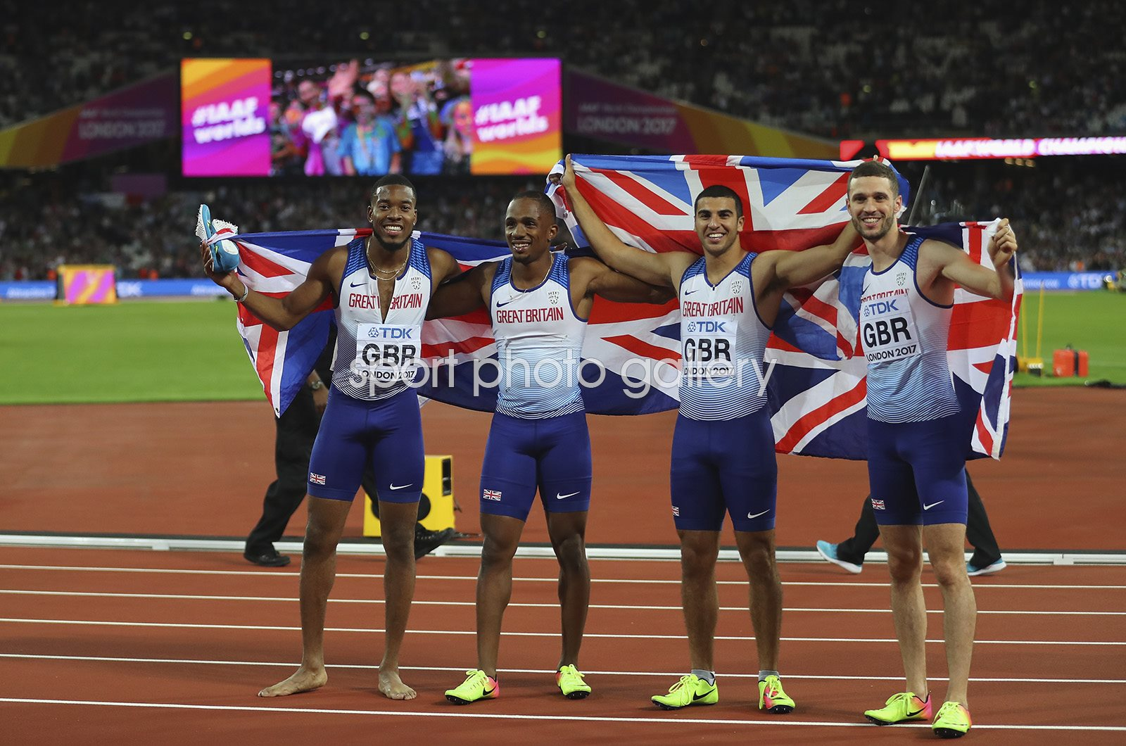 Great Britain Men's 4x100m Relay Gold World Athletics London 2017