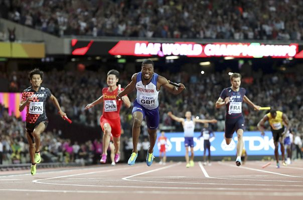 Nethaneel Mitchell-Blake Great Britain Gold 4x100m Relay London 2017