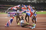 Great Britain Women's 4x100m Relay Silver World Athletics London 2017 Prints