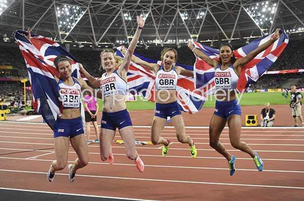 Great Britain 4x400m Relay Silver World Athletics London 2017
