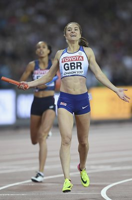 Emily Diamond Great Britain 4x400m Relay Silver London 2017