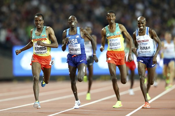 Muktar Edris Gold Mo Farah Silver 5000m London 2017