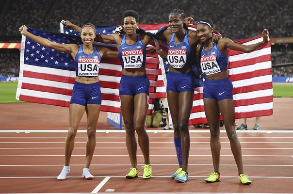 USA 4x400m Relay Gold World Athletics Championships London 2017