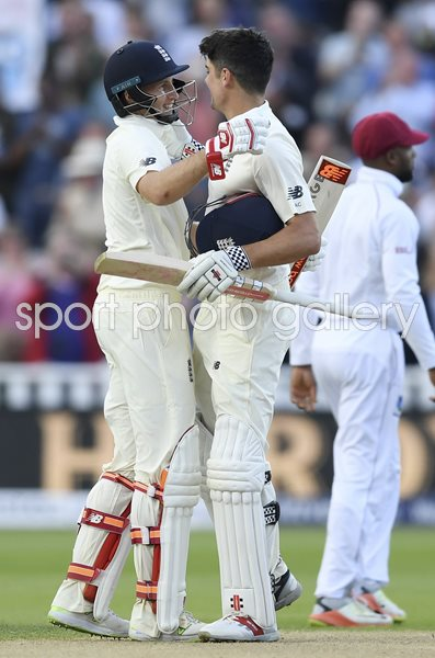 Alastair Cook & Joe Root England v West Indies Edgbaston Day Night Test 2017