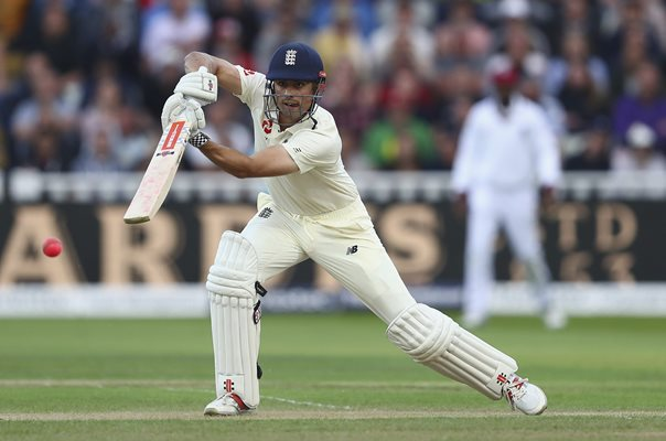 Alastair Cook Century England v West Indies Edgbaston Day Night Test 2017