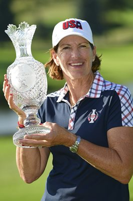 Juli Inkster USA Winning Captain Solheim Cup 2017
