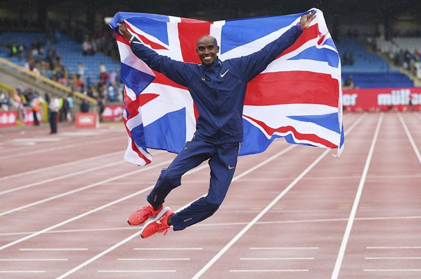 Mo Farah Great Britain Track Farewell Diamond League Birmingham 2017