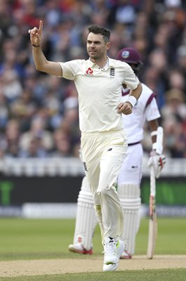 James Anderson England v West Indies Edgbaston Test 2017