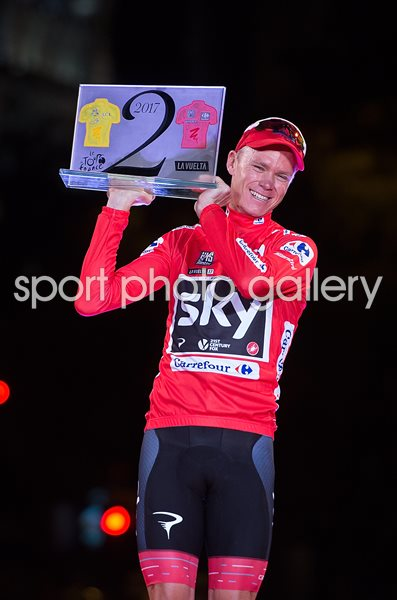 Chris Froome Great Britain wins Vuelta a Espana 2017