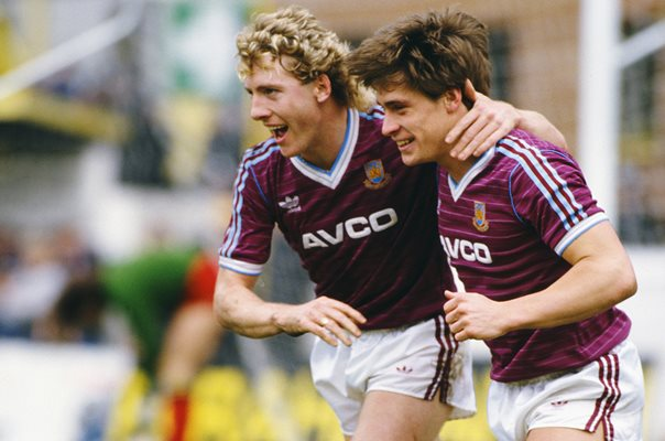 Frank McAvennie & Tony Cottee West Ham United 1986