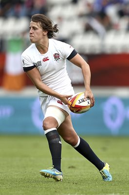 Katy McLean England Captain Women's Rugby World Cup 2014
