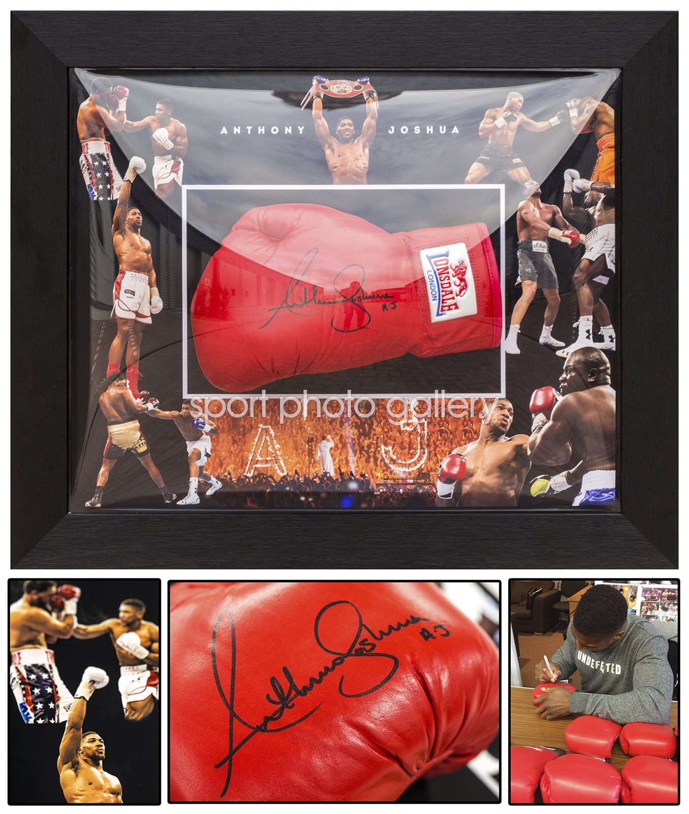 Signed Anthony Joshua Glove Presentation