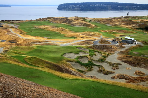 Chambers Bay Golf Course 9th hole 2015