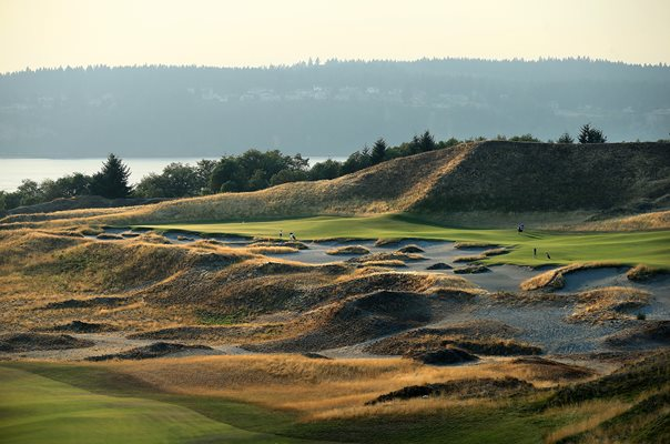 Chambers Bay Golf Course 14th hole 2015
