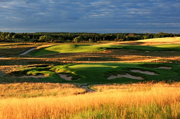Erin Hills Golf Course, Wisconsin 9th hole 2017 US Open venue