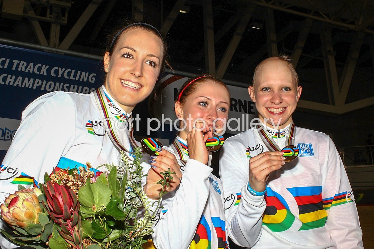 Danielle King, Laura Trott and Joanna Rowsell 2012