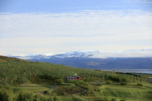 Husavik Golf Club, Hofn, Iceland 9th & 2nd Greens