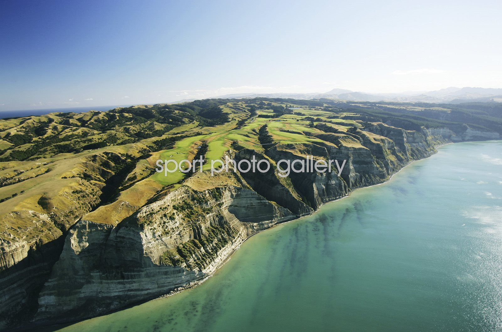 Cape Kidnappers Aerial View Hawkes Bay New Zealand