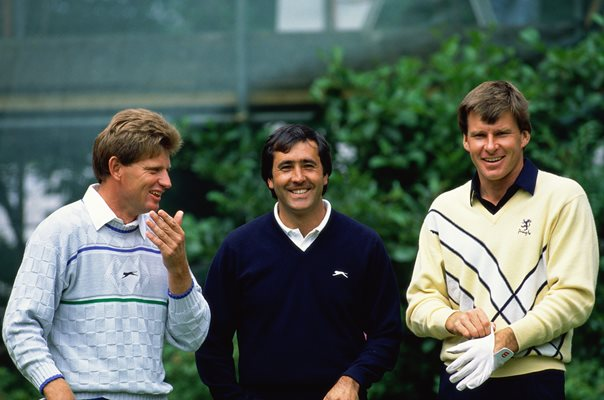 Nick Price, Seve Ballesteros and Nick Faldo Open Lytham 1988