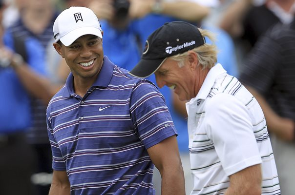 Greg Norman & Tiger Woods 2011 Australian Open