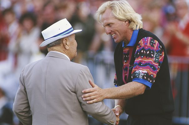 Greg Norman & Gene Sarazen British Open Sandwich 1993