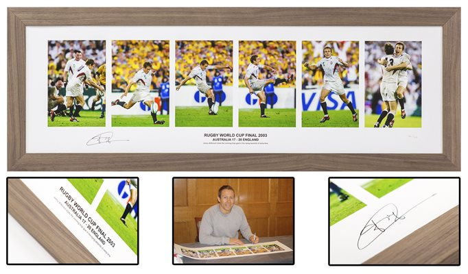 Jonny Wilkinson Signed World Cup 2003 Frop Goal Fine Art Collage