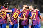 Barcelona players celebrate Prints