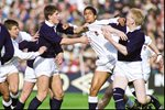 Jeremy Guscott England v John Jeffery Scotland Murrayfield 1990 Prints
