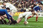 Gary Amstrong Scotland v France 5 Nations Murrayfield 1990 Prints
