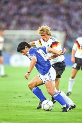 Diego Maradona v Jrgen Klinsmann World Cup Final 1990