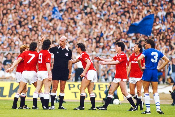 Kevin Moran Manchester United Red Card FA Cup Final 1985