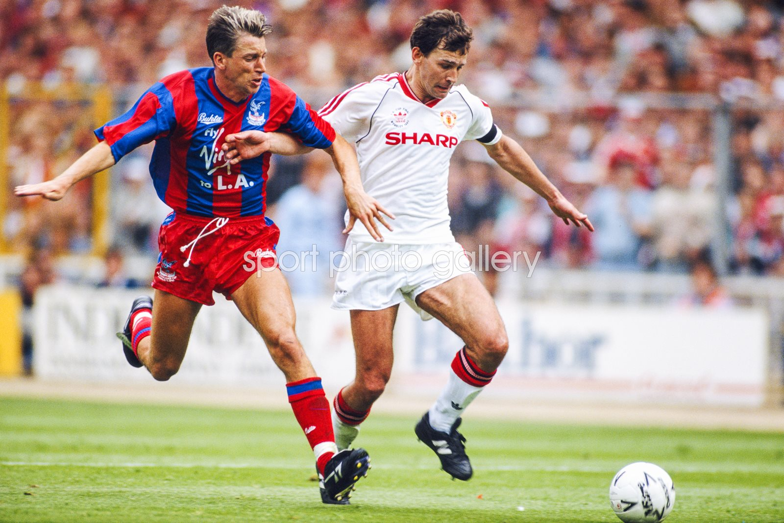 Alan Pardew Crystal Palace v Bryan Robson Manchester United FA Cup Final 1990