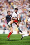 Neil Simpson Scotland v Bryan Robson England Rous Cup 1987 Prints