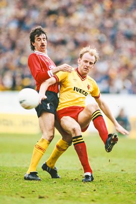 George Reilly Watford v Mark Lawrenson Liverpool Division One 1984