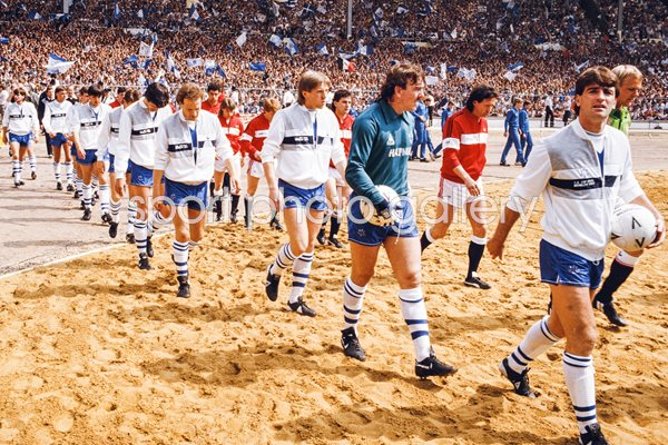 Kevin Ratcliffe Everton v Manchester United FA Cup Final Wembley 1985