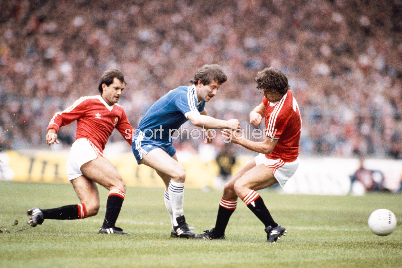 Jimmy Case Brighton v Wilkins & Robson Manchester United 1983 FA Cup Final