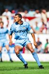 Keith Curle Manchester City v Arsenal Highbury 1991 Prints