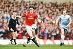 Mark Hughes Manchester United v Manchester City Division One 1986 Prints