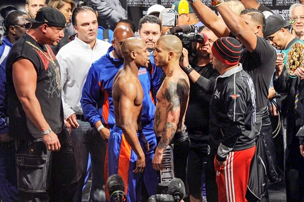 Miguel Cotto v Floyd Mayweather Jr. Weigh-In 2012