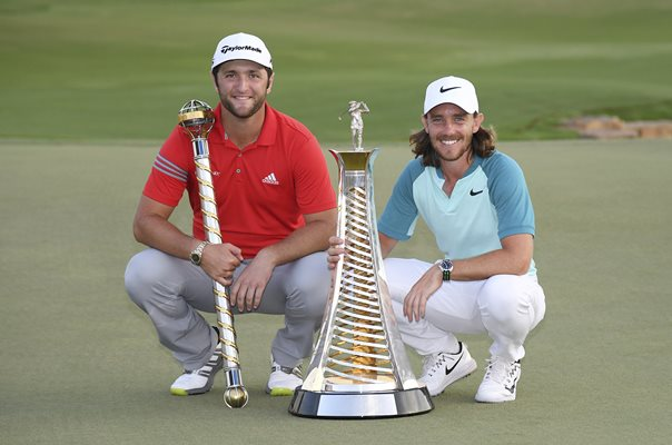 Tommy Fleetwood & Jon Rahm World Tour Championship Dubai 2017