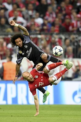 Marcelo Real Madrid & Arjen Robben Bayern Munich Champions League 2017