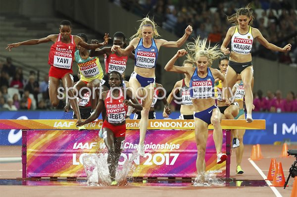 Emma Coburn USA 3000m Steeplechase World Athletics London 2017
