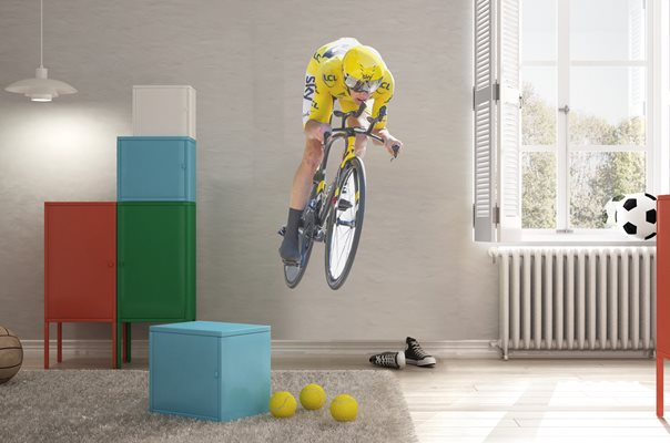 Chris Froome time trial lifesize wall sticker