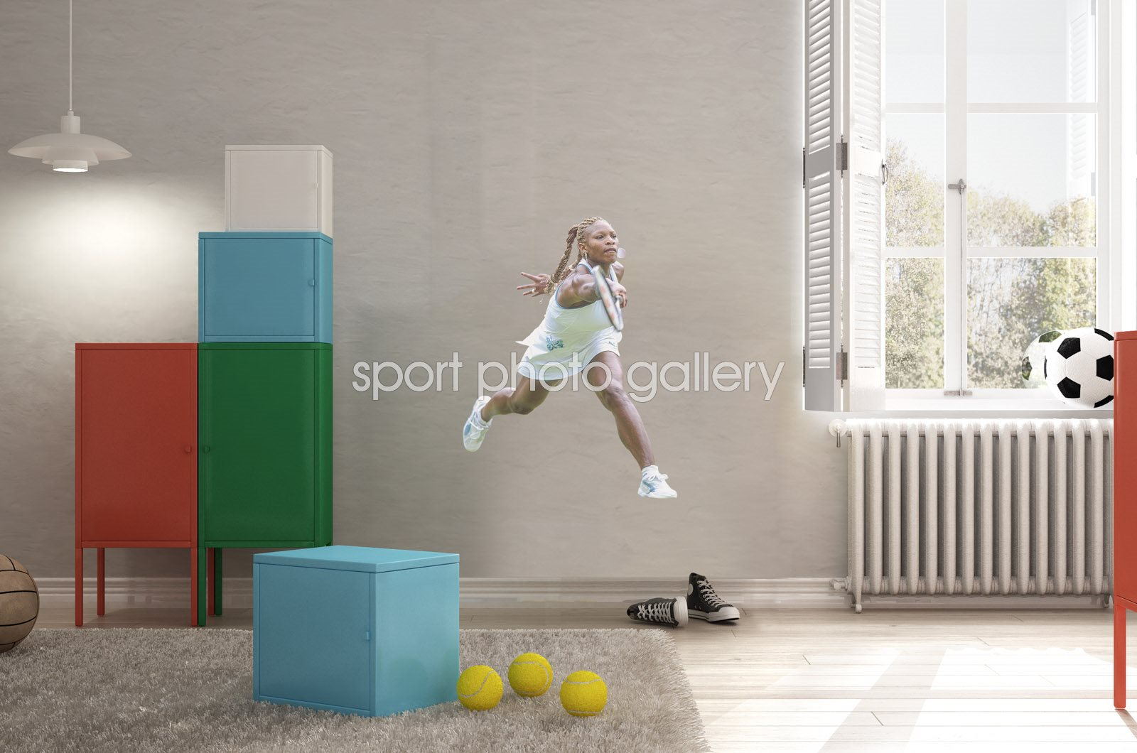 Serena Williams lifesize wall sticker