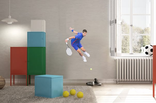 Novak Djokovic lifesize wall sticker