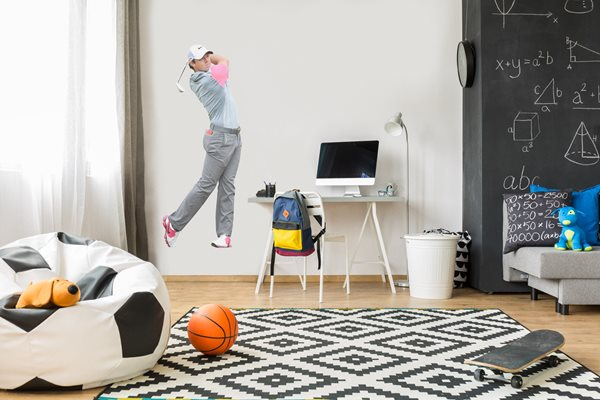 Rory Mcilroy lifesize wall sticker