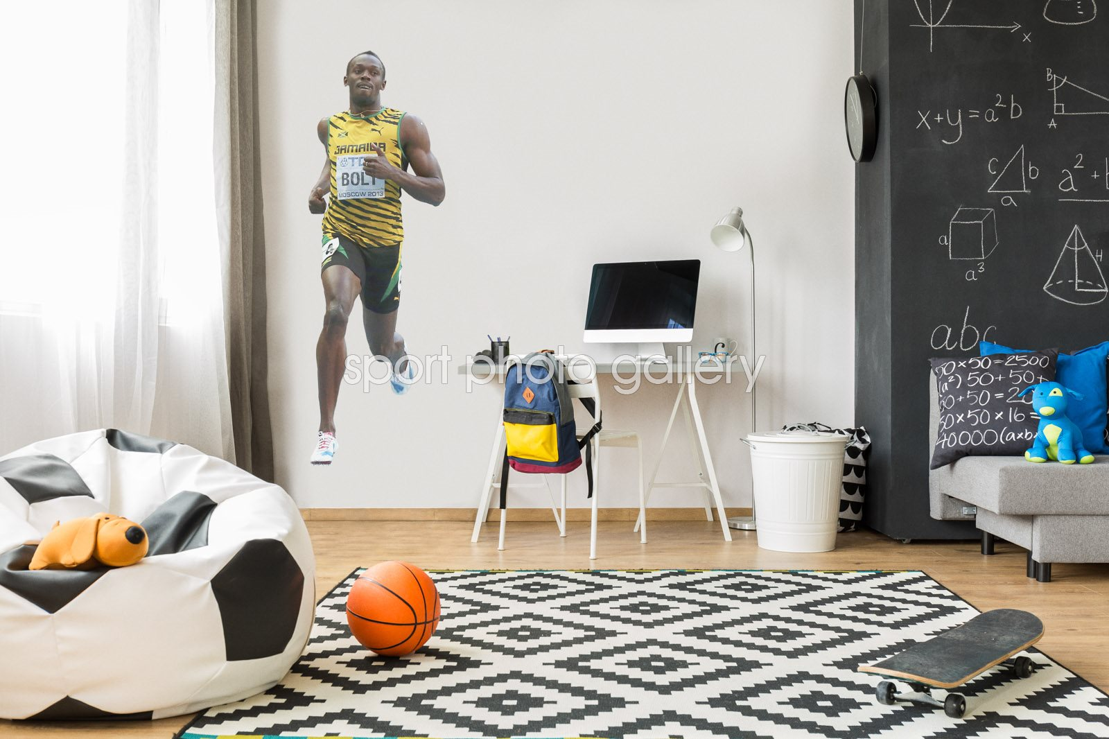 Usain Bolt lifesize wall sticker