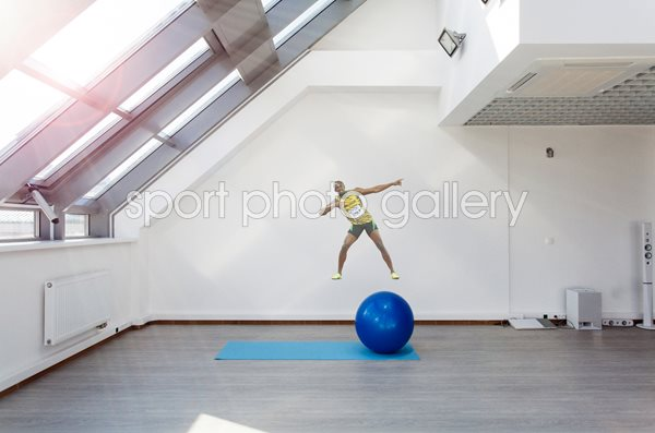 Usain Bolt lightning bolt lifesize wall sticker
